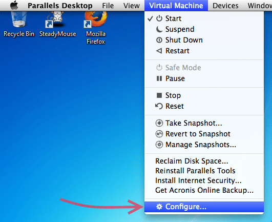 Parallels mouse settings 1